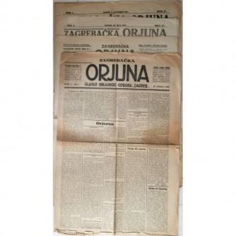 Zagrebačka Orjuna : glasilo oblasnog odbora Zagreb : godište I. 1923. 10 brojeva